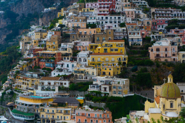 Amalfi Coast, Close View Of Positano