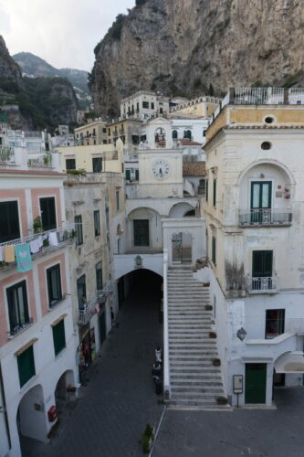 Amalfi Coast, Piazza Umberto At Atrani