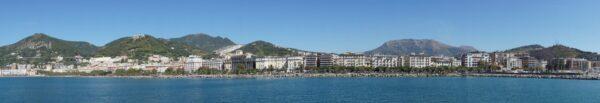 Amalfi Coast, Panorama Sea View To Salerno