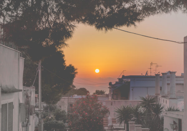 Amalfi Coast, Sunset At Anacapri
