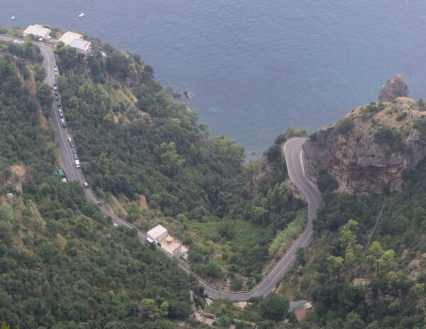 Amalfi Coast, View To Coastal Road