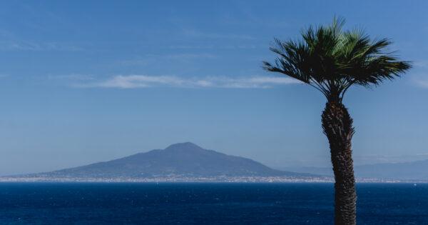 Amalfi Coast, View To Vesuvio From Sorrent