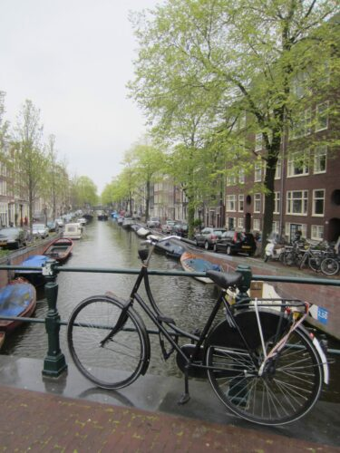 Amsterdam, Bike In Front Of A Canal