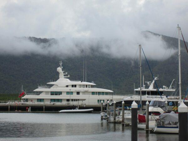 Cairns, Yacht In Fog