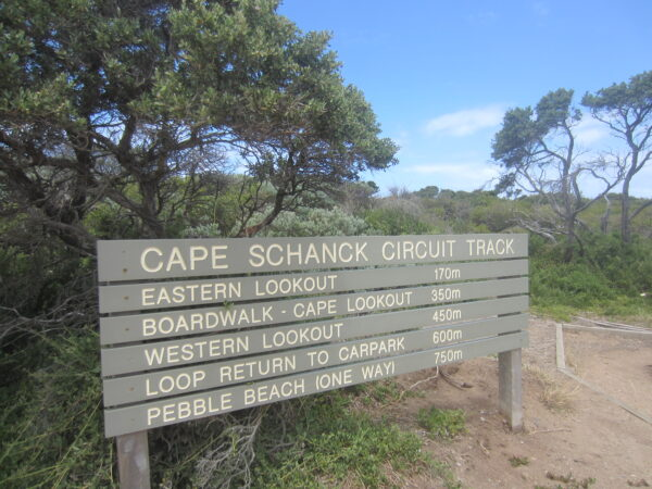 Australia, Cape Schanck Sign