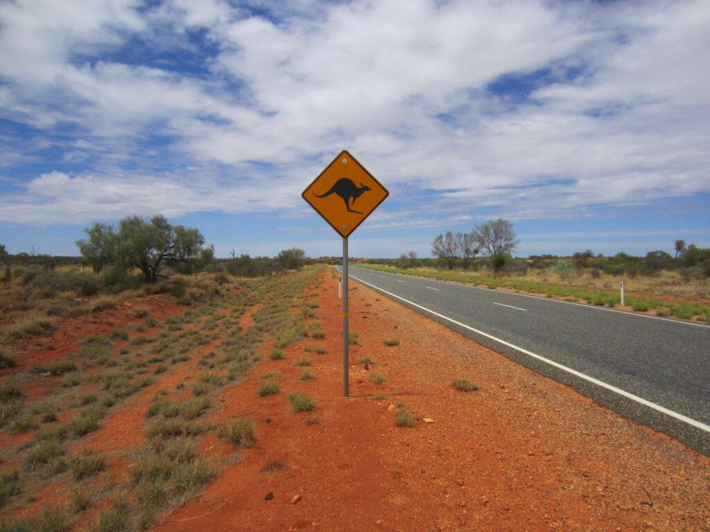 Australia - Outback, Kangaroo Sign