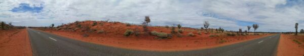 Australia - Outback, Panorama Road View