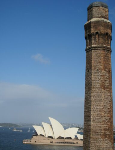 Sydney, Chimney In Front Of Opera