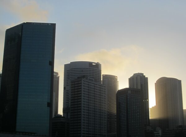 Sydney, Sun Behind Skyline