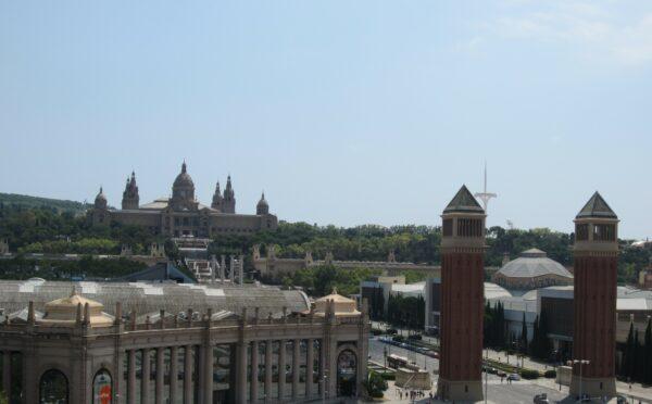 Barcelona, View To Palau Nacional