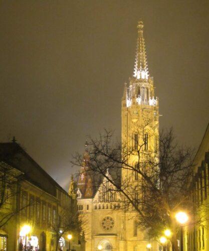 Budapest, Matthias Church At Night