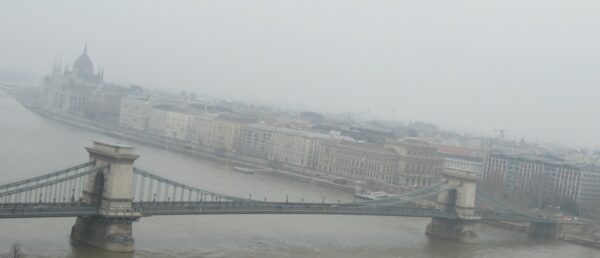 Budapest, View To Chain Bridge And Hungarian Parliament Building