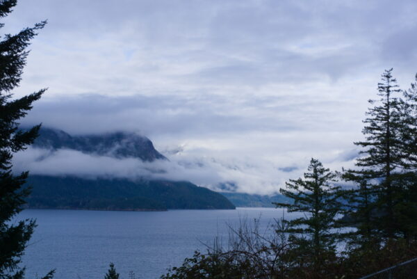 Cloudy Seaside On The Sea To Sky Highway