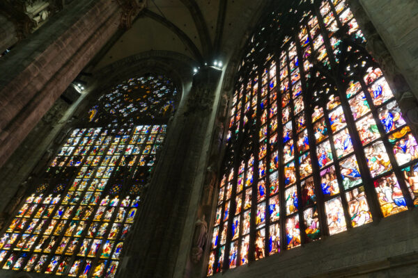Colorful Windows In Duomo Di Milano