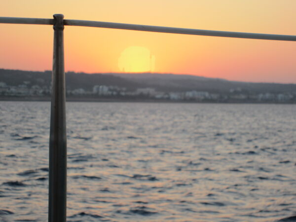 Cyprus, Sunset On Boat