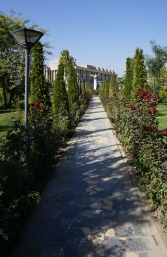 Dushanbe, Path View To National Museum In Flagpole Park