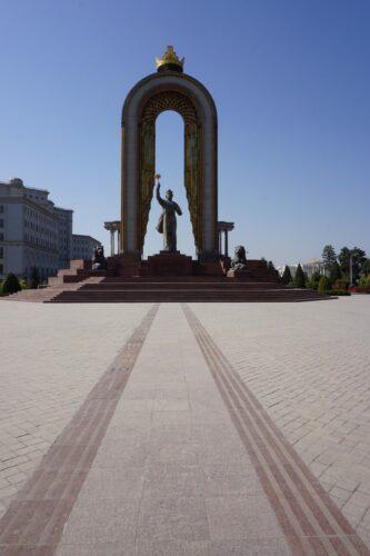 Dushanbe, Ismoili Somoni Statue