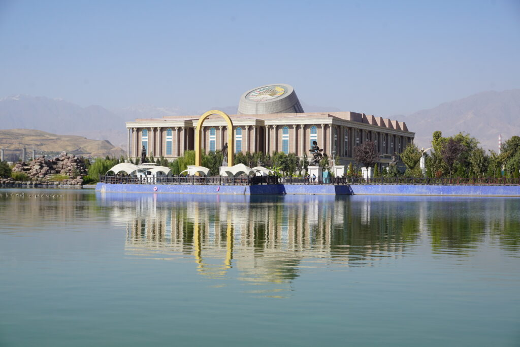 Dushanbe, National Museum Reflecting In Water