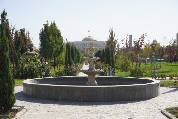 Dushanbe, View To Palace Of The Nation