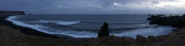 Dyrholaey, Black Lava Beach At Iceland South Coast