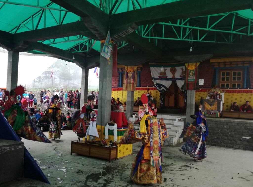 Ceremony at Lukla monastery
