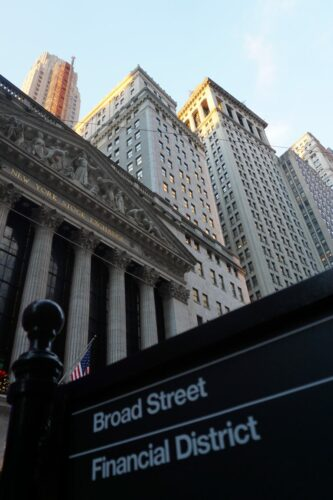 New York Stock Exchange At Financial District