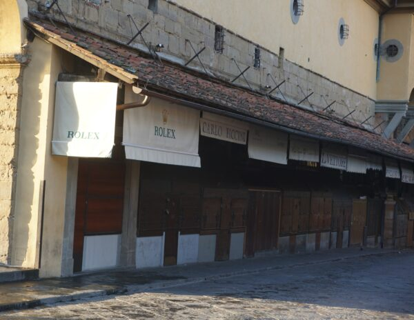 Florence, Ponte Vecchio Closed Shops