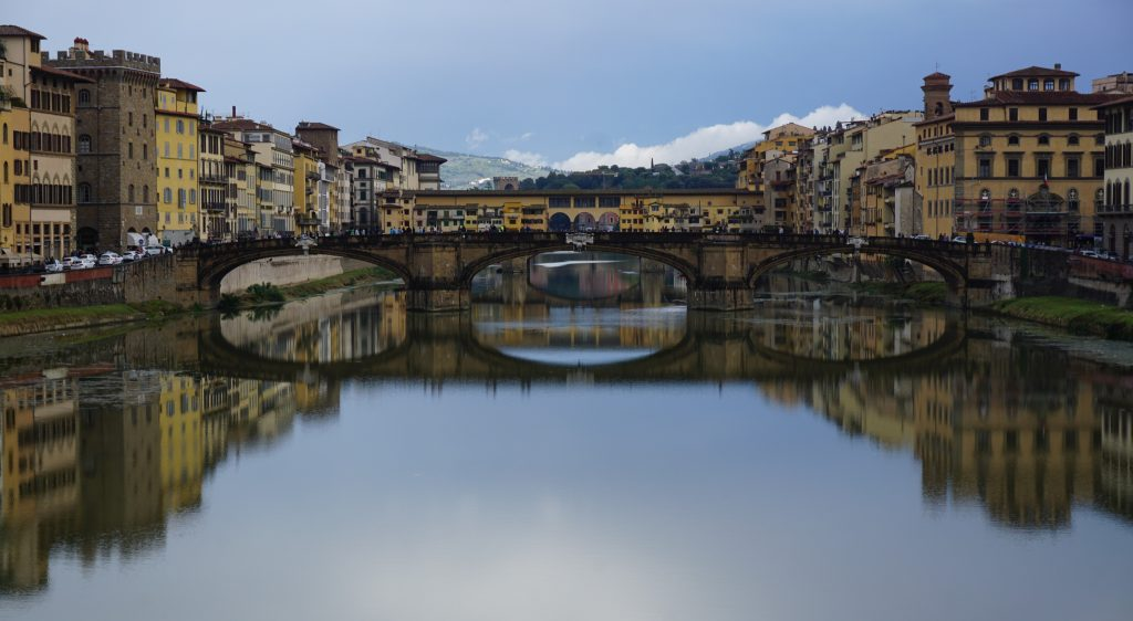Florence, View To Ponte Vecchio