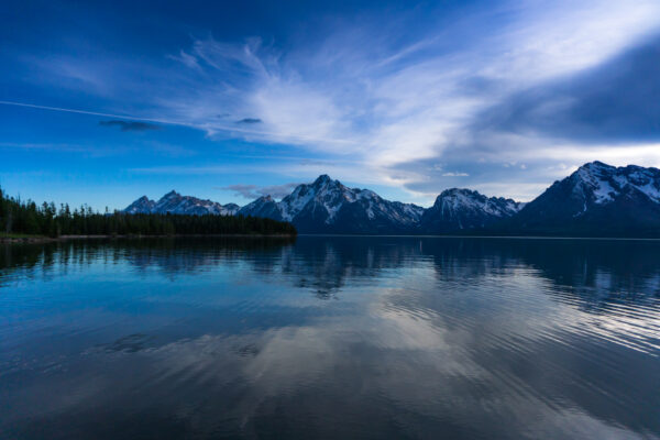 Grand Teton National Park, Evening Sky At Jackson Lake