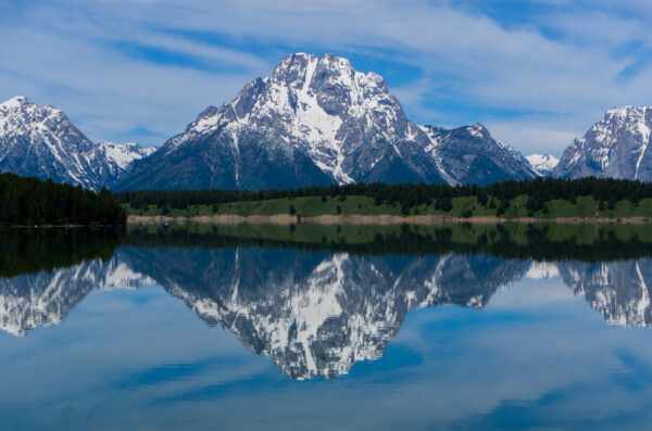 Grand Teton National Park, Mountain Reflection In Jackson Lake