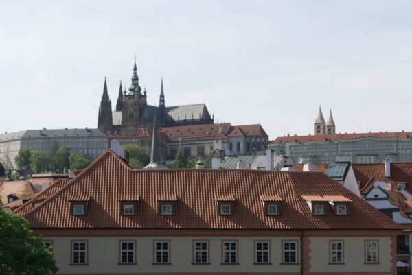 House In Front Of Prague Castle