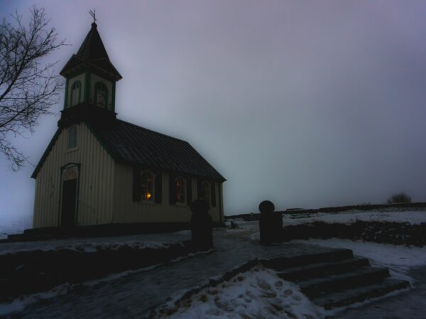 Iceland, Church In Thingvellir National Park