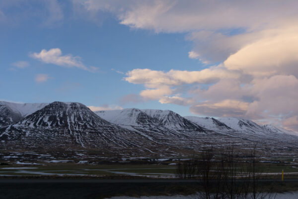Iceland, Close Up Mountains View