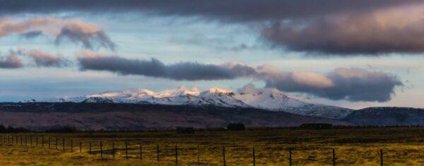 Iceland, Cloudy Mountain Panorama