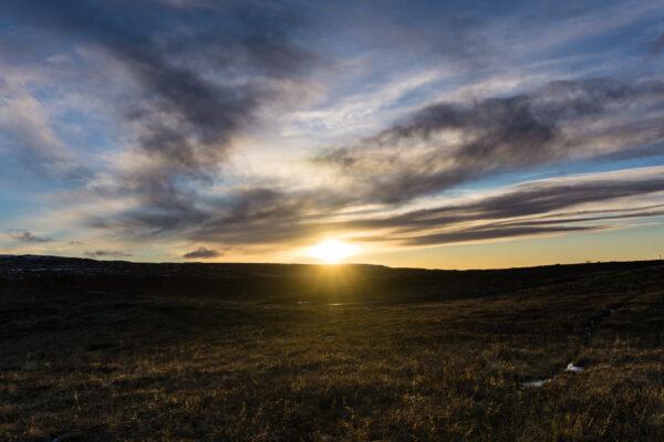 Iceland, Evening Sun