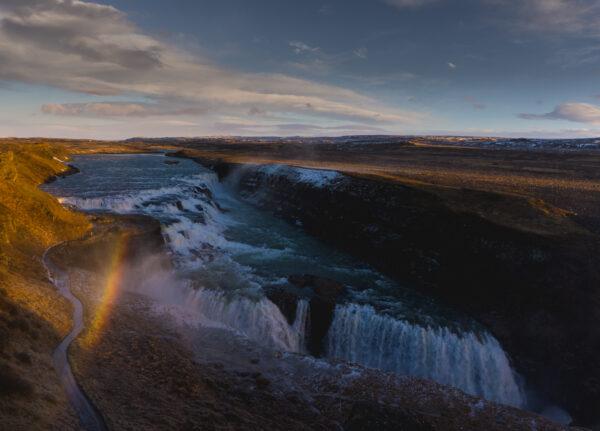 Iceland, Gullfoss Rainbow
