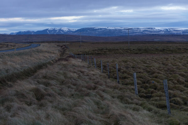 Iceland, Landscape With Mountains Background