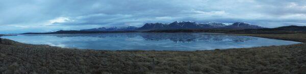 Iceland, Mountains Reflecting In Lake