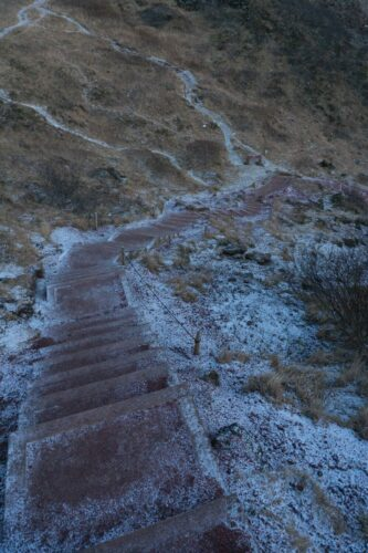 Iceland, Path Down To Kerid Crater