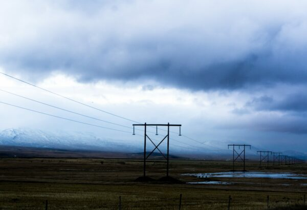 Powerlines At Icelandic Countryside