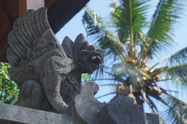 Indonesia - Bali, Goa Gajah Stone Dragon