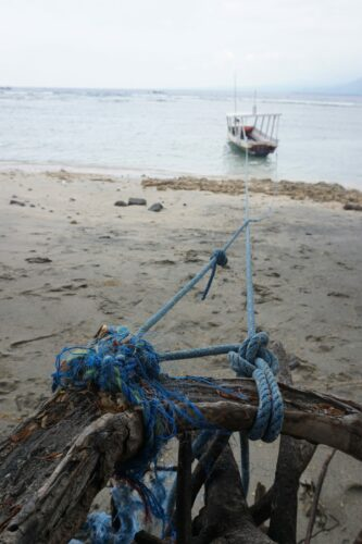 Indonesia - Gili Air, Boat On Beach