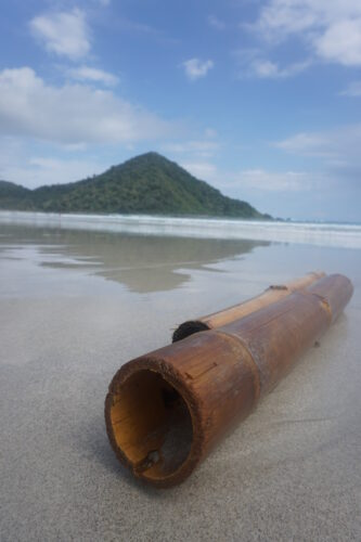 Indonesia - Lombok, Bamboo On Beach