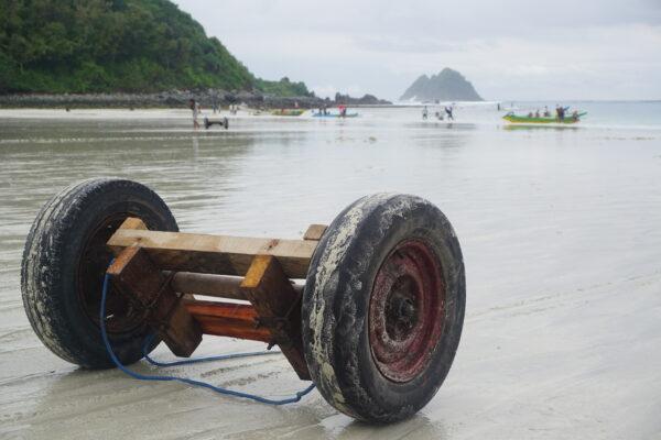 Indonesia - Lombok, Boat Equipment On Beach