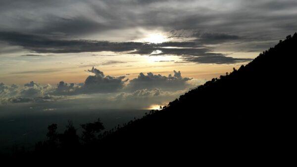 Indonesia, Sunrise At Mount Ijen