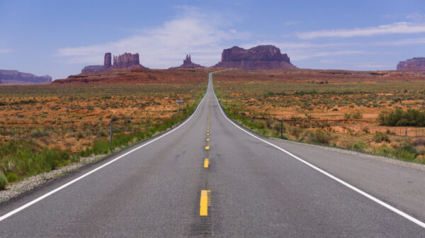 Infinity Road To Monument Valley