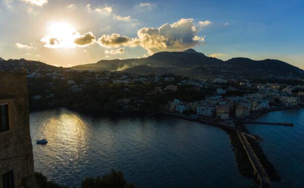 Ischia - Aragonese Castle, Sun In Clouds