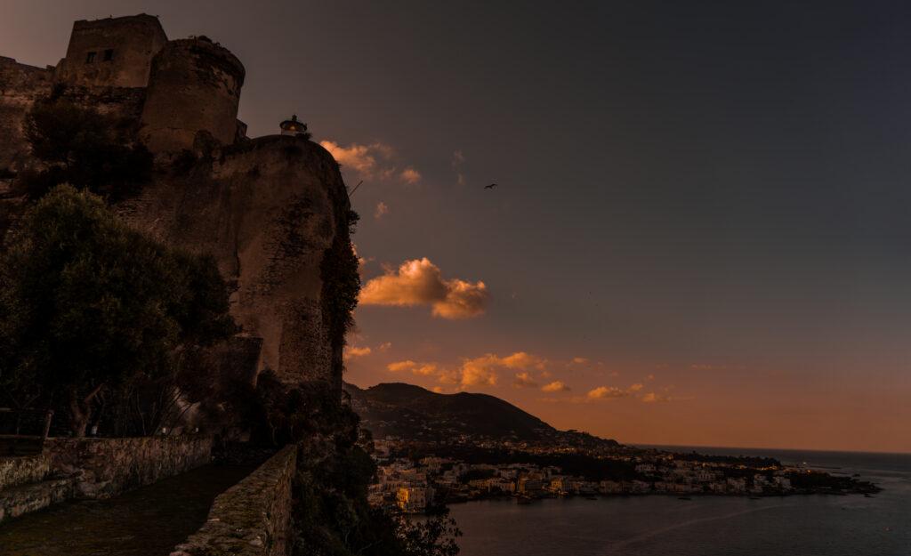 Ischia - Aragonese Castle, Sunset