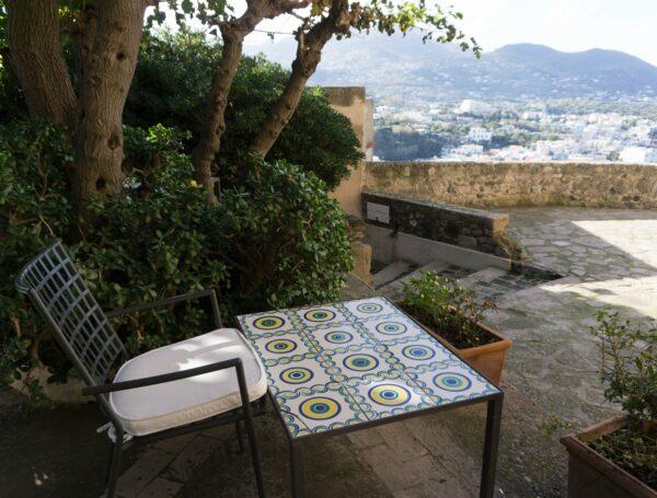 Ischia - Aragonese Castle, Tiles Table