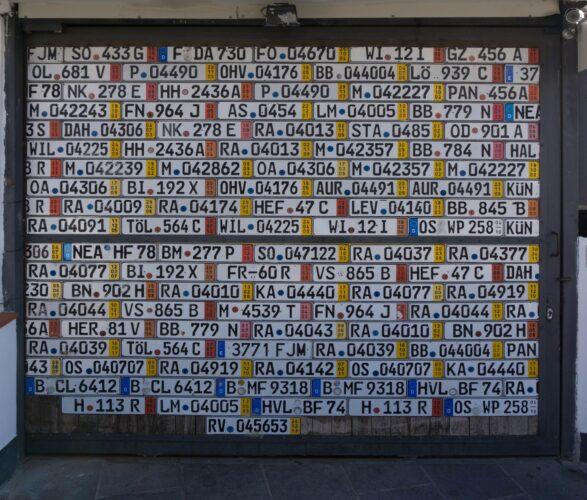 Ischia, Door With Number Plates At Panza